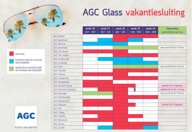 AGC vakantiekalender