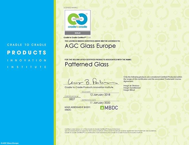 Cradle to Cradle Gold-certificaat voor figuurglas van AGC
